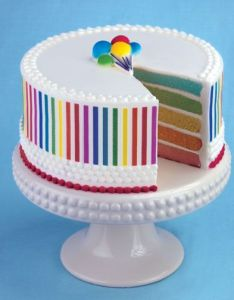 Rainbow Cake From Lucks Food Decorating Company Decorations And Ideas Birthdays Cakes So Cute Also