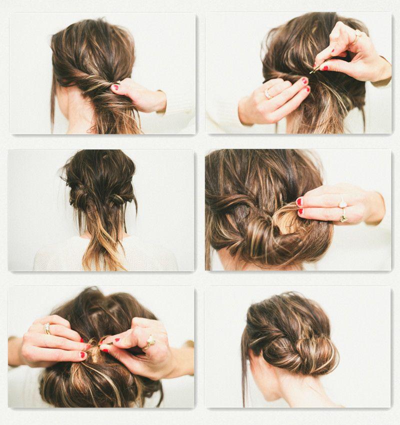 Gezwirbelte Hochsteckfrisuren In 5 Minuten Hair <3 Pinterest