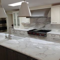 Kitchen Counters And Backsplash Ceiling Light A Remodeled With Slab Of Granite Island Matching