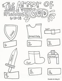 Ephesians 6:10-18 Girdle of Truth Breastplate of