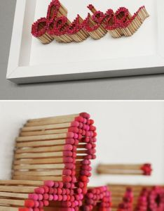 Pei san ng text sculpture made with matches art idea burn the and extinguish them at different stages also that   so cool rh pinterest