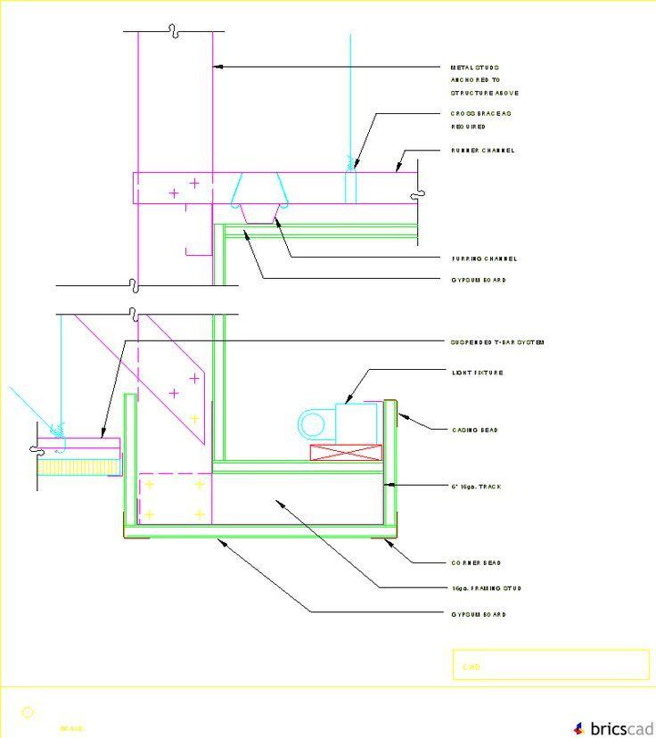 Gyp Bd Ceiling Soffit W Light Cove AIA CAD Details
