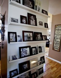 Gallery wall no having to drill holes in the easy move frames also great ideas for amazing art walls and rh pinterest