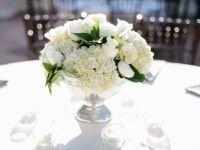 sliver pedestal white classic wedding flower centerpiece ...