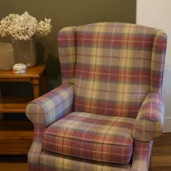 Sofa Wesley Barrell Fabric Beds Uk Blenheim Wing Back Chair In Sanderson Highlands Plaid # ...