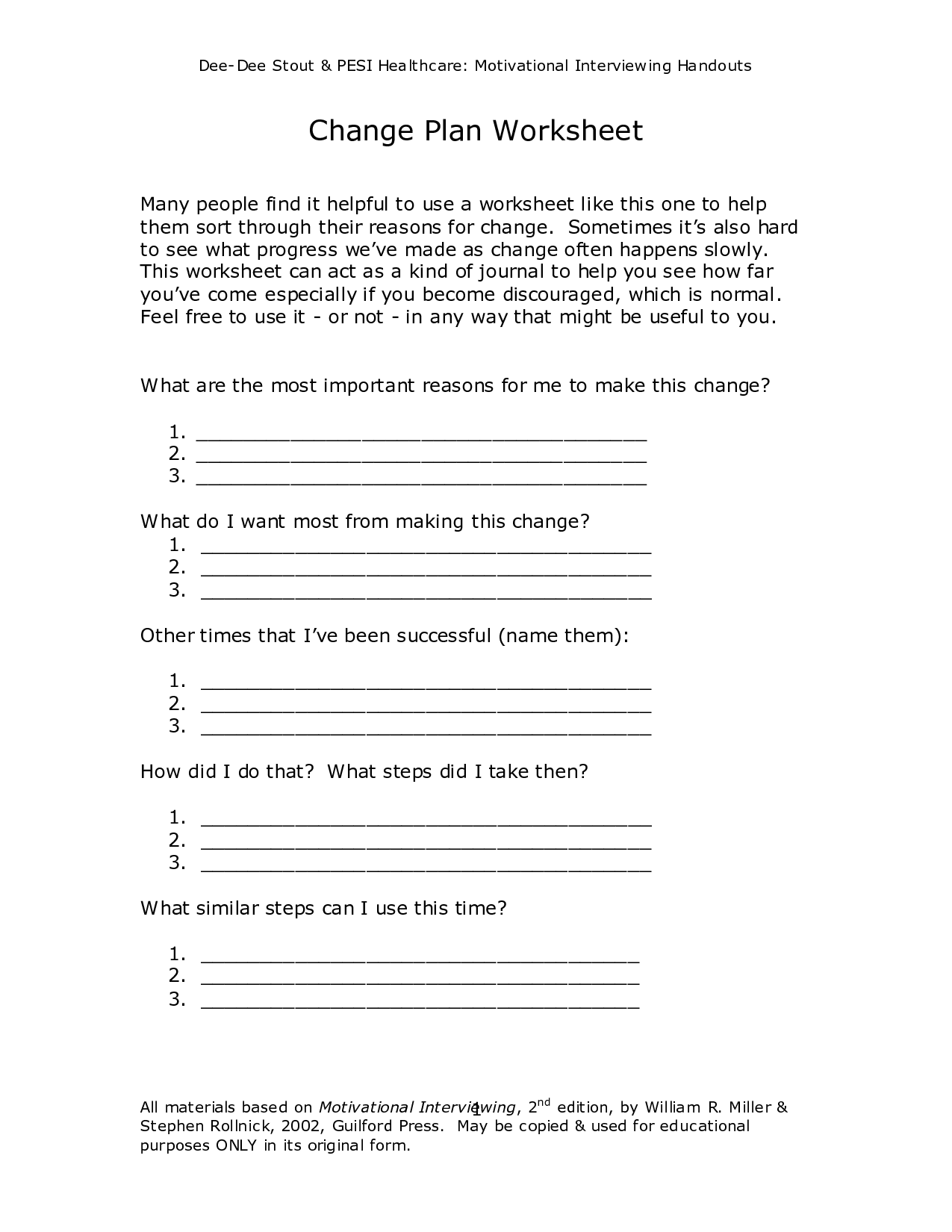 Sheeto Postpic 02 Motivational Interviewing Stages Of Change Worksheet