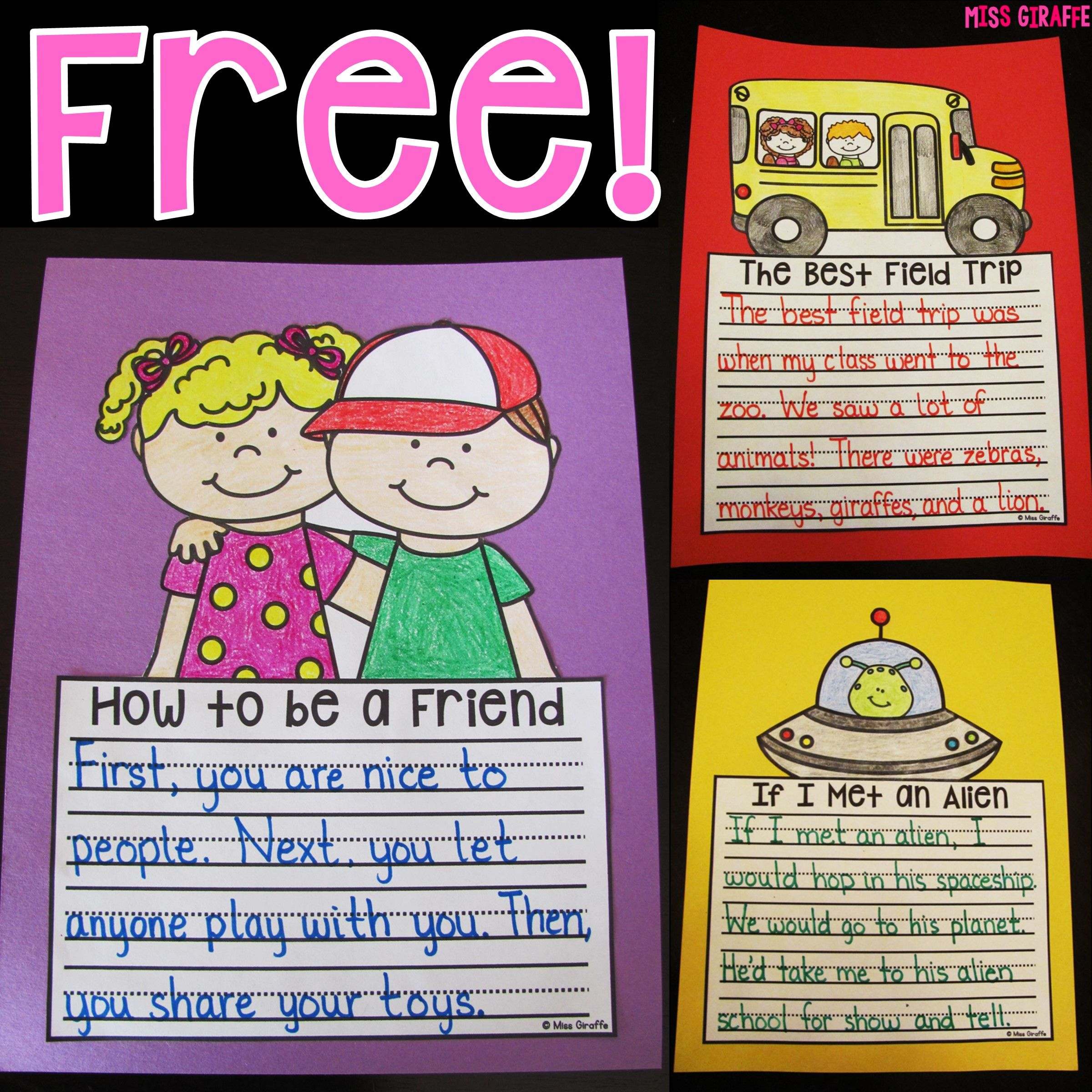 Writing Crafts That Are No Prep And So Much Fun 3 Free