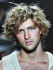 long curly hairstyles men mens