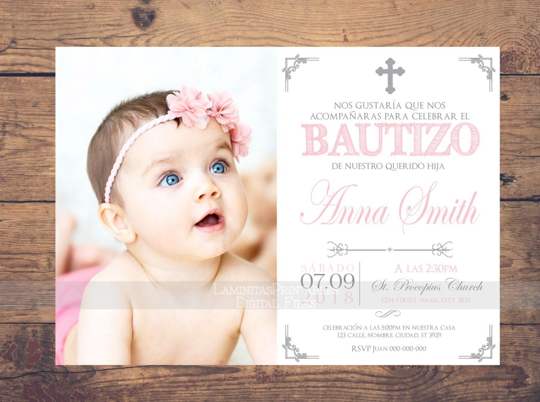 Baptism Invitations Spanish Template