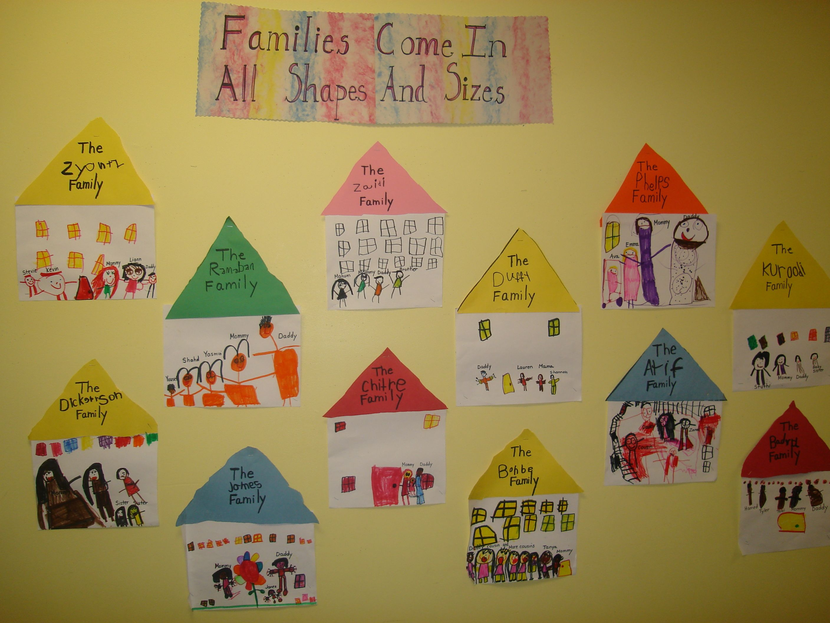 Best 25 Kindergarten Family Unit Ideas