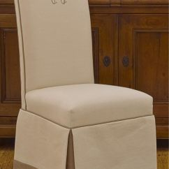 Parsons Chairs With Skirt Nice Gaming Monogrammed Upholstered Double Welt