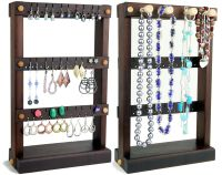Jewelry Holder Stand, Earring Holder, Wood | stands for ...