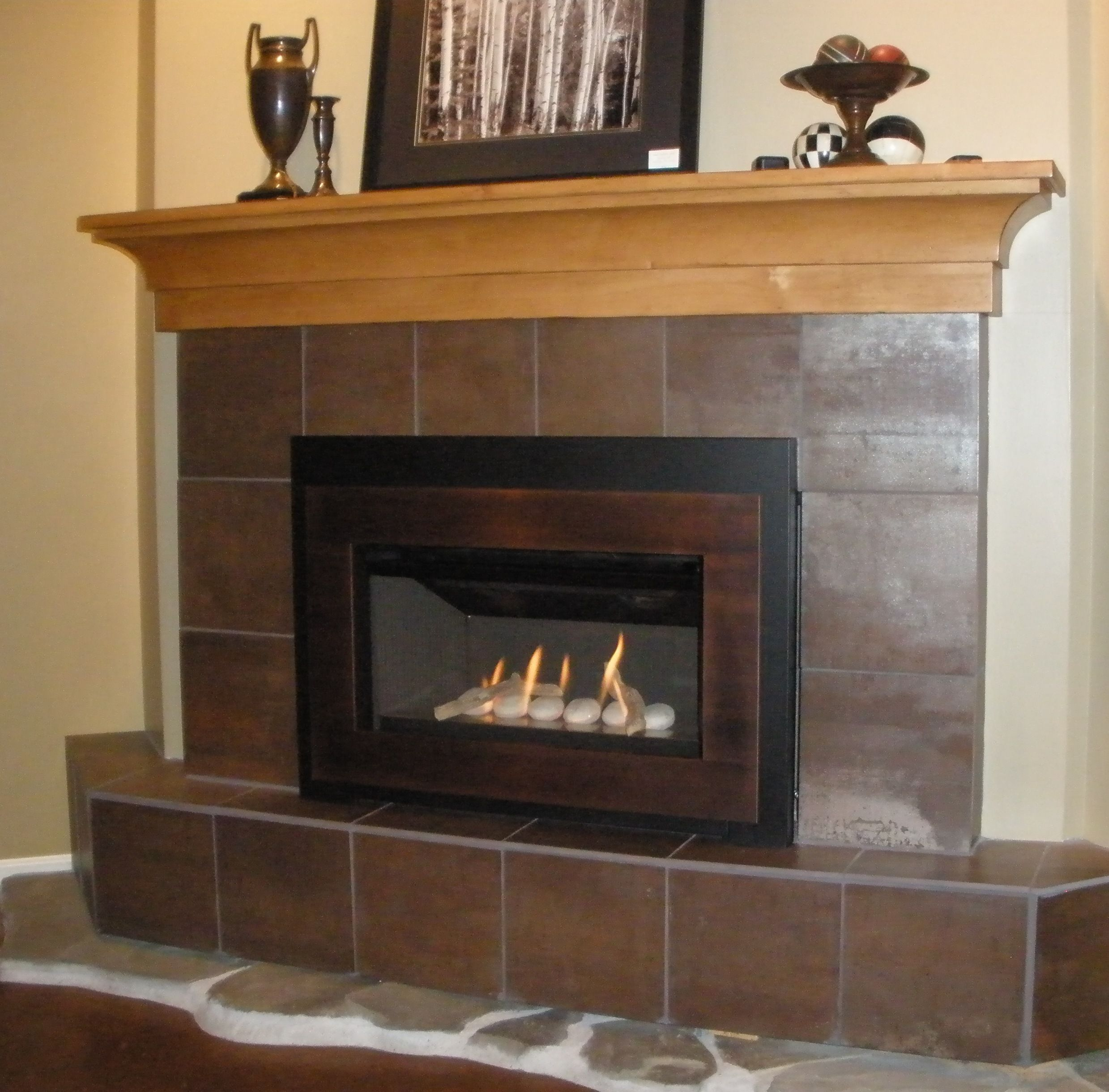 Valor G3 739irn Gas Fireplace Insert With Creekside Rock