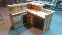 Pallet Office Desk / Reception Desk | Reception desks ...