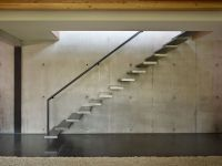 Stairs, Exposed Concrete Wall, West Seattle Residence with ...