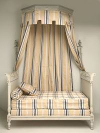 Antique French Directoire Style Canopy Bed From Old Plank ...