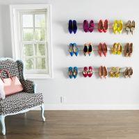 DIY Wall Mounted Shoe Rack | Wall mounted shoe rack, Shoe ...