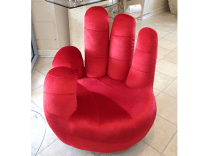 Hand Shaped Chair Red - Modern Furniture and Lighting ...