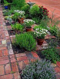 The Checkerboard Herb Garden. | Herbs garden, Stone patios ...