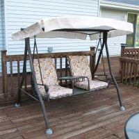 Menards 2 seat Chair Style Sienna Swing canopy and cushion ...