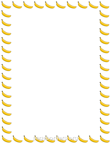 banana border borda