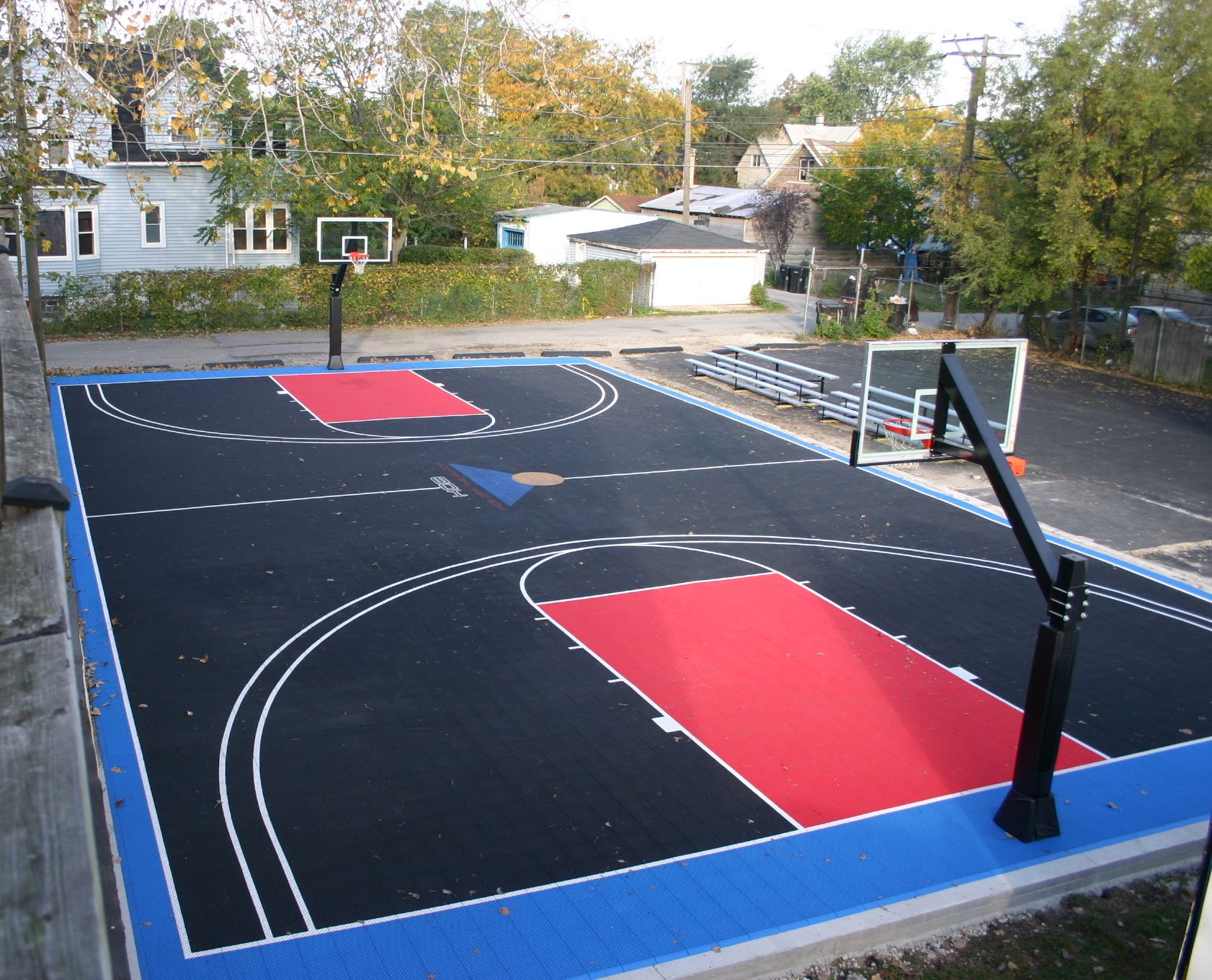 Diy Basketball Court Stencil Hoops Blog Clipgoo Modern