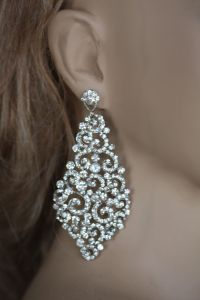 Bridal Earrings, Swarovski Crystal Earrings, Wedding