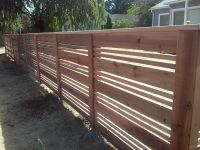 Custom Horizontal Wood Fences, Portland OR. Horizontal ...