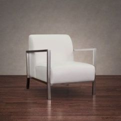 White Leather Accent Chair Canada Pottery Barn And A Half Cover Shop For Modena Modern Ships To At Overstock Ca