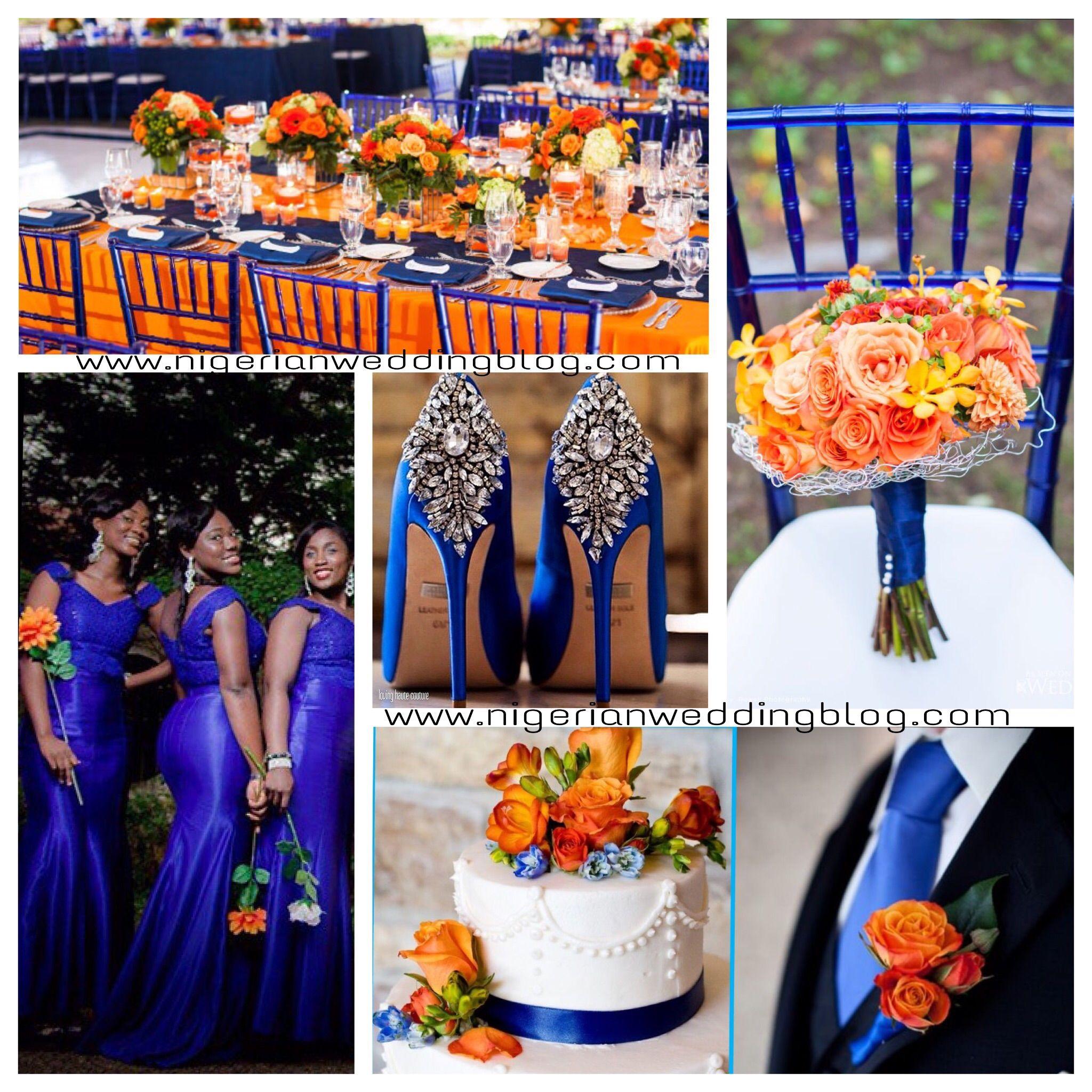 And Blue Royal Wedding Fall Colors Orange