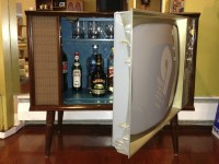 Vintage TV Hidden Cocktail Bar Liquor Cabinet | Liquor ...