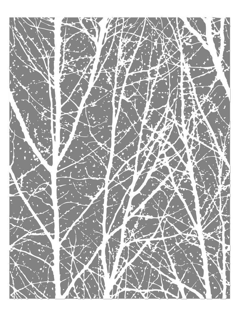 Grey White Tree Background