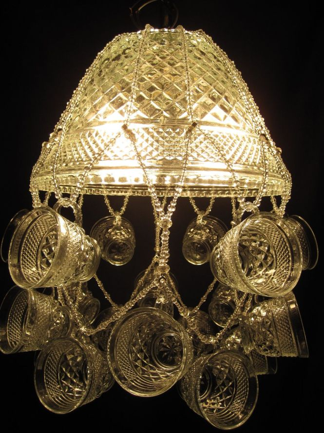 Gorgeous Wexford Punch Bowl Chandelier With 18 Dangling Cups For Some Reason This Eals