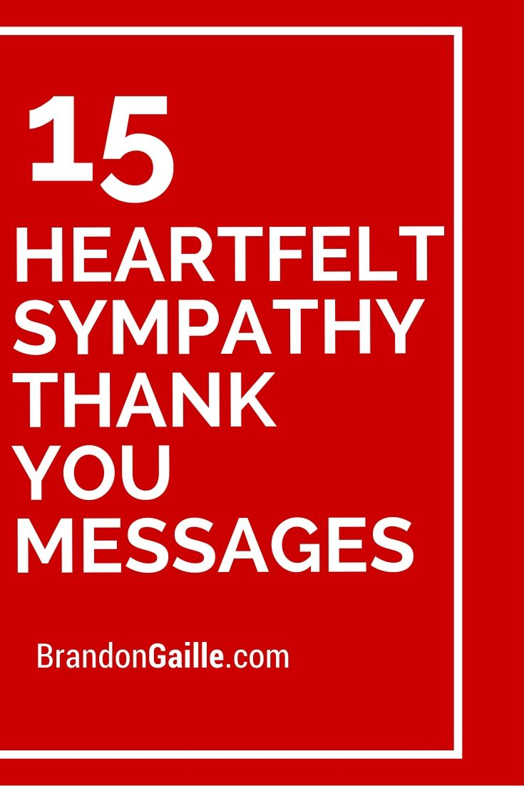 sympathy thank you cards messages