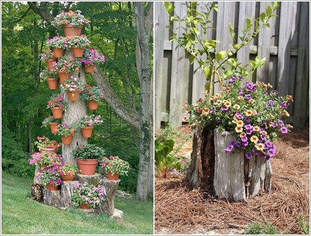 5 Creative Ideas To Decorate With Tree Trunks Or Stumps 5
