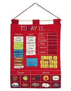Amazon today is children   calendar wall chart by alma design red also rh pinterest