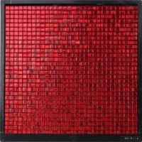 GM15-10 Waterproof Sqaure Red Glass Mosaic Tile Hotel ...