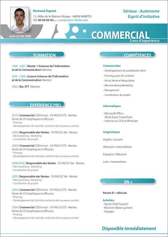 cv responsable commercial gratuit mg35