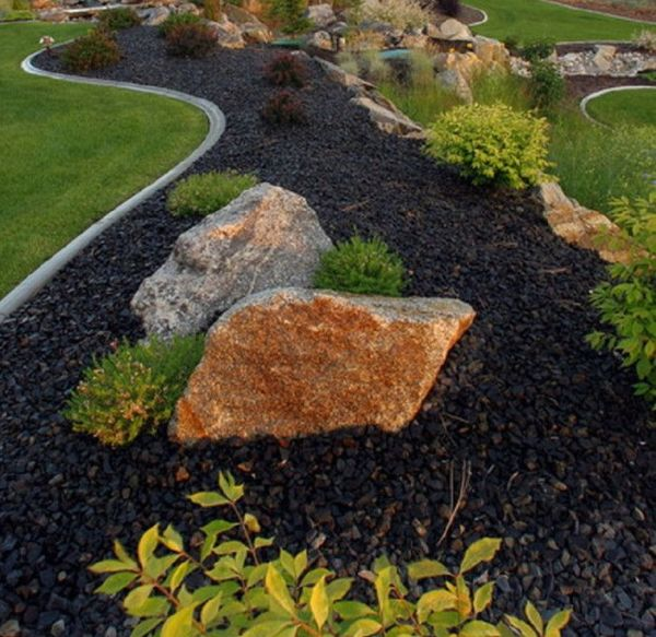 black river rock landscaping