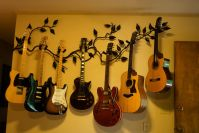 guitar wall hangers wall mount guitar hanger of forged ...