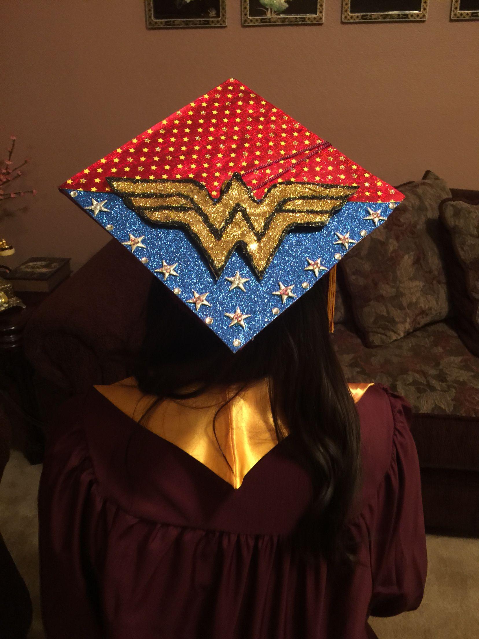 Wonder Woman Graduation Cap  My Style  Pinterest