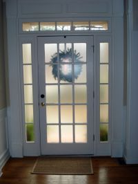 Frosted Glass Spray (e.g. Krylon or Rustoleum) for front