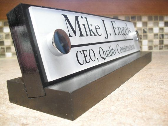 Office Desk Name Plate Personalized Executive or