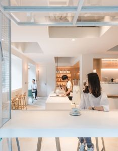Lukstudio in and between boxes atelier peter fong divisare cafe interiorwhite boxcafe designinterior also rh pinterest