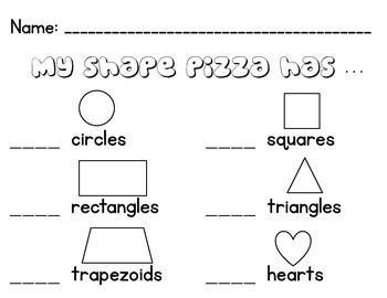 Use this worksheet for a fun pizza art project as a follow