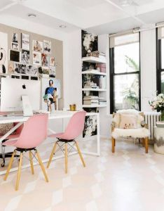 As  fashion designer it is essential that rebecca taylor finds inspiration in her work setting homepolish   tali roth created space bright also pin by designs for home decor ideas on office pinterest rh