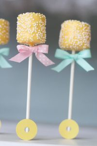 Rattle Marshmallow Pops for a Baby Shower | Party Foods ...