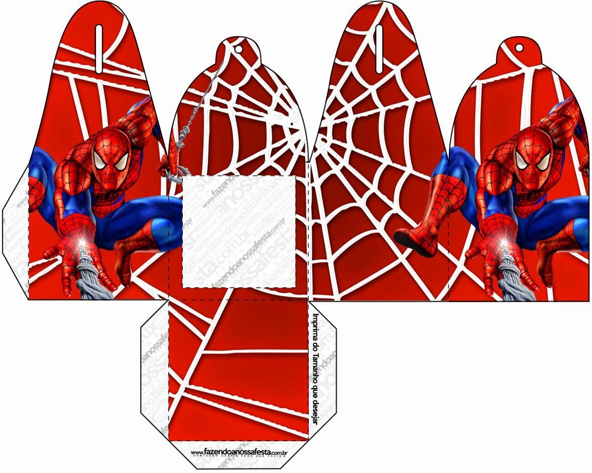 Spiderman Free Printable Boxes