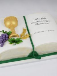 First Communion Cake Buch Book Erstkommunion Torte Boy ...