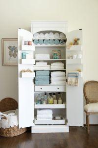 Freestanding Cabinet for Craft & Linen Storage | Linen ...